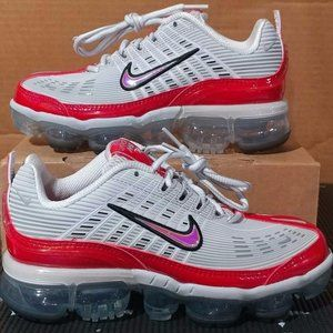 Nike Air Vapormax 360 Grey/White/Red Womens Size 8